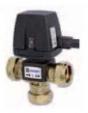 Prepínací ventil VZA 263 DN20 kvs4,5 CPF 22 mm
